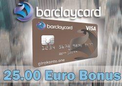 Barclaycard New Visa inkl. 25 € Startguthaben