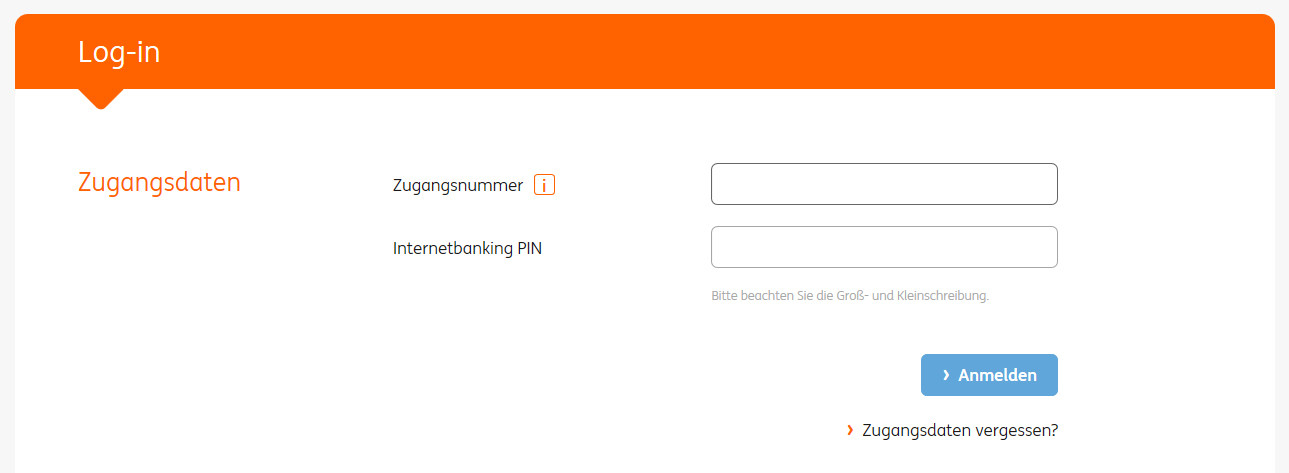 Log in to HomeBank  ING Belgium