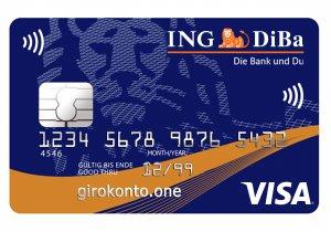 Girokonto der ING-DIBA Visa Kreditkarte