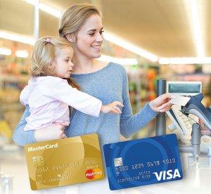 Zahlen mit Kreditkarte bei Lidl