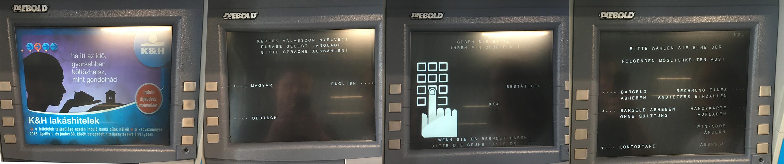 Geld abheben in Ungarn Geldautomat
