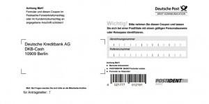DKB girokonto Eröffnen mit Postident