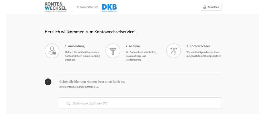 Kontowechselservice DKB