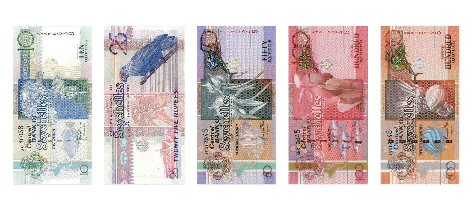 Geld abheben Seychellen - Banknoten