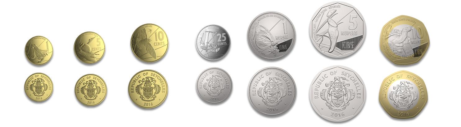 Seychellen Rupien Münzen