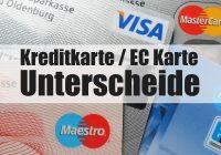 Kreditkarte EC Karte Unterschiede