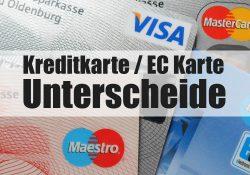 Unterschiede Kreditkarte und EC Karte / Girocard
