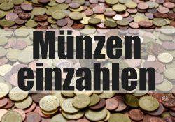 Münzen und Kleingeld einzahlen